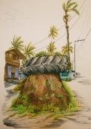 Mi diario gráfico: Juanchaco (serie de 13 dibujos), 2010